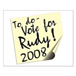 Vote Rudy Giuliani Reminder Small Poster