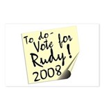 Vote Rudy Giuliani Reminder Postcards (Package of