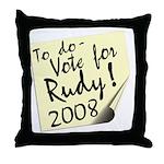 Vote Rudy Giuliani Reminder Throw Pillow