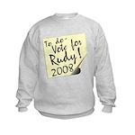 Vote Rudy Giuliani Reminder Kids Sweatshirt