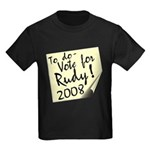 Vote Rudy Giuliani Reminder Kids Dark T-Shirt