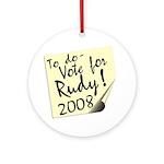 Vote Rudy Giuliani Reminder Ornament (Round)