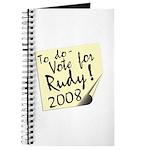 Vote Rudy Giuliani Reminder Journal