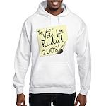 Vote Rudy Giuliani Reminder Hooded Sweatshirt