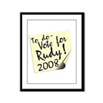 Vote Rudy Giuliani Reminder Framed Panel Print
