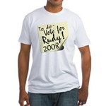 Vote Rudy Giuliani Reminder Fitted T-Shirt