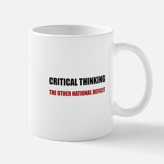 Critical Thinking National Deficit Mugs