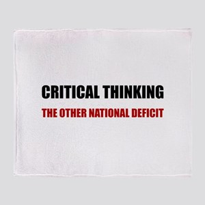 Critical Thinking National Deficit Throw Blanket