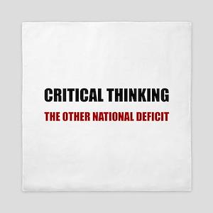 Critical Thinking National Deficit Queen Duvet