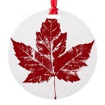 Cool Maple Leaf Souvenirs Canada Round Ornament