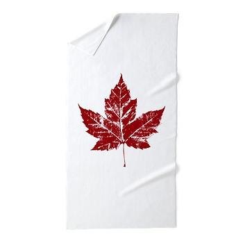 Cool Maple Leaf Souvenirs Canada Beach Towel