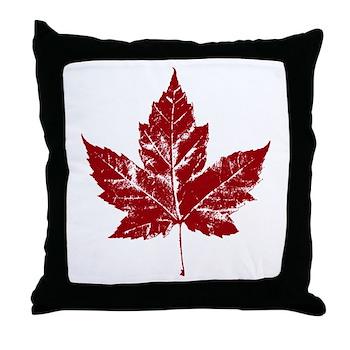 Cool Maple Leaf Souvenirs Canada Throw Pillow