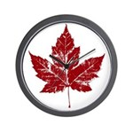 Cool Maple Leaf Souvenirs Canada Wall Clock
