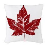 Cool Maple Leaf Souvenirs Canada Woven Throw Pillo