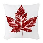 Cool Maple Leaf Souvenirs Canada Woven Throw Pillo