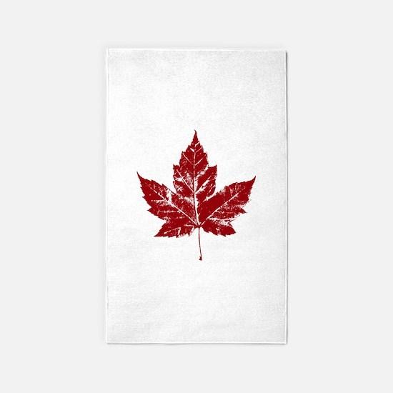 Cool Maple Leaf Souvenirs Canada Area Rug