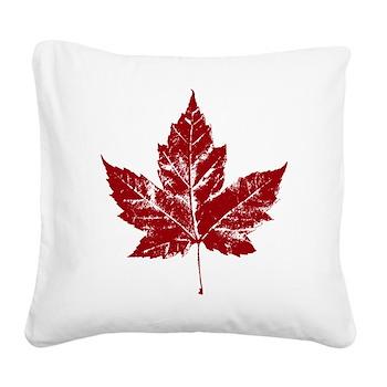 Cool Maple Leaf Souvenirs Canada Square Canvas Pil