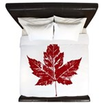 Cool Maple Leaf Souvenirs Canada King Duvet