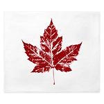 Cool Maple Leaf Souvenirs Canada King Duvet