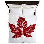 Cool Maple Leaf Souvenirs Canada Queen Duvet
