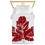 Cool Maple Leaf Souvenirs Canada Twin Duvet