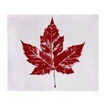 Cool Maple Leaf Souvenirs Canada Throw Blanket