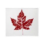 Cool Maple Leaf Souvenirs Canada Throw Blanket