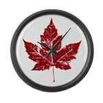 Cool Maple Leaf Souvenirs Canada Large Wall Clock