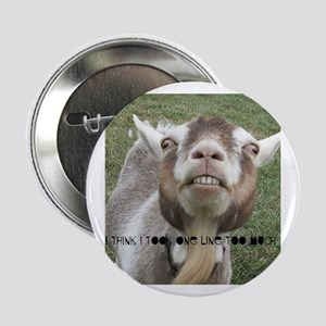 """Highwired Goat 2.25"""" Button"""