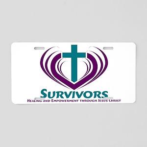 Survivors Aluminum License Plate