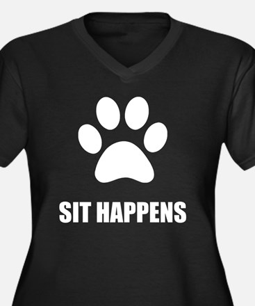 Sit happens Dog Plus Size T-Shirt