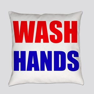 Wash Hands Everyday Pillow