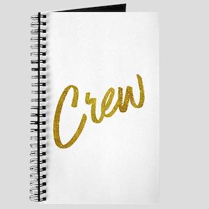 Crew Gold Faux Foil Metallic Glitter Quote Journal