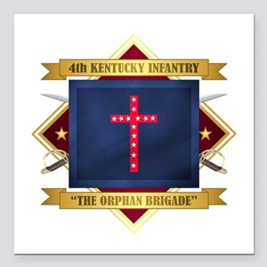"""4th Kentucky Infantry Square Car Magnet 3"""" x 3"""""""