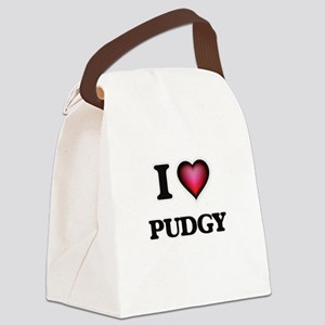 I Love Pudgy Canvas Lunch Bag