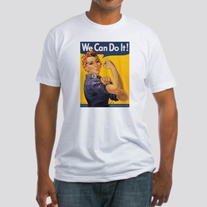 Rosie The Riveter Fitted T-Shirt