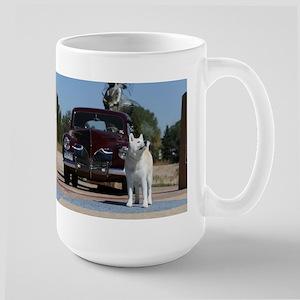 White Akita & Classic Car Mugs