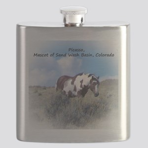 Picasso, Mascot of Wild Horses of Sand Wash Flask