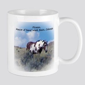 Picasso, Mascot of Wild Horses of Sand Wash Mugs