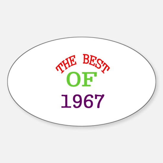 The Best Of 1967 Sticker (Oval)