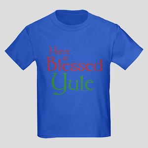 Blessed Yule Kids Dark T-Shirt