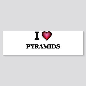 I Love Pyramids Bumper Sticker