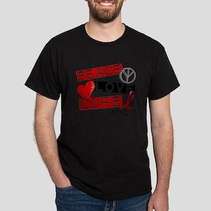 PEACE LOVE CURE AIDS (L1) T-Shirt