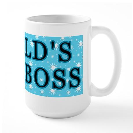 World's Best Boss With Stars Large Mug