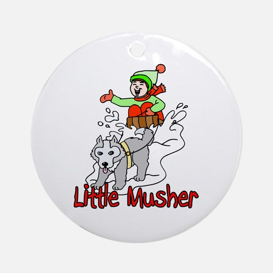 Little Musher Ornament (Round)