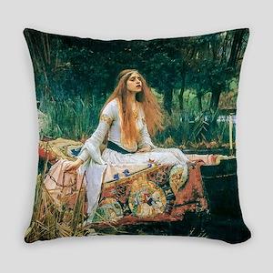 Waterhouse: Lady of Shalott Everyday Pillow