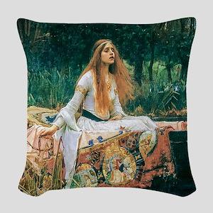 Waterhouse: Lady of Shalott Woven Throw Pillow