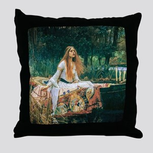 Waterhouse: Lady of Shalott Throw Pillow