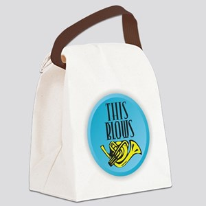 This Blows - French Horn Canvas Lunch Bag