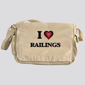 I Love Railings Messenger Bag